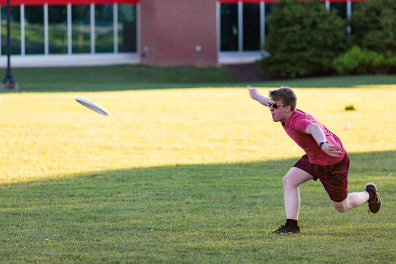 W.P. Hurt plays Ultimate Frisbee.