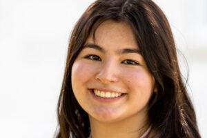 Elisha VanZant smiles