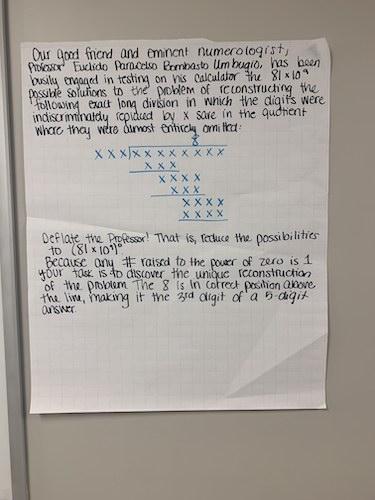 Description of The Lonesome 8 problem